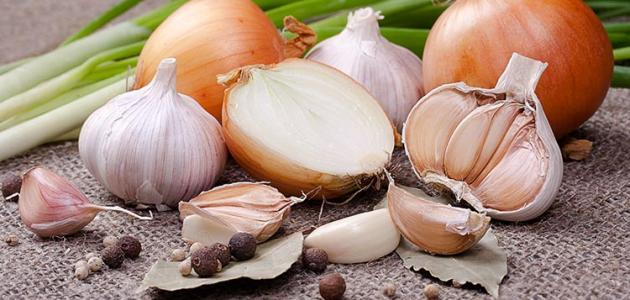 وصفة الثوم و البصل لتساقط الشعر