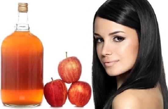 شطف الشعر بخل التفاح
